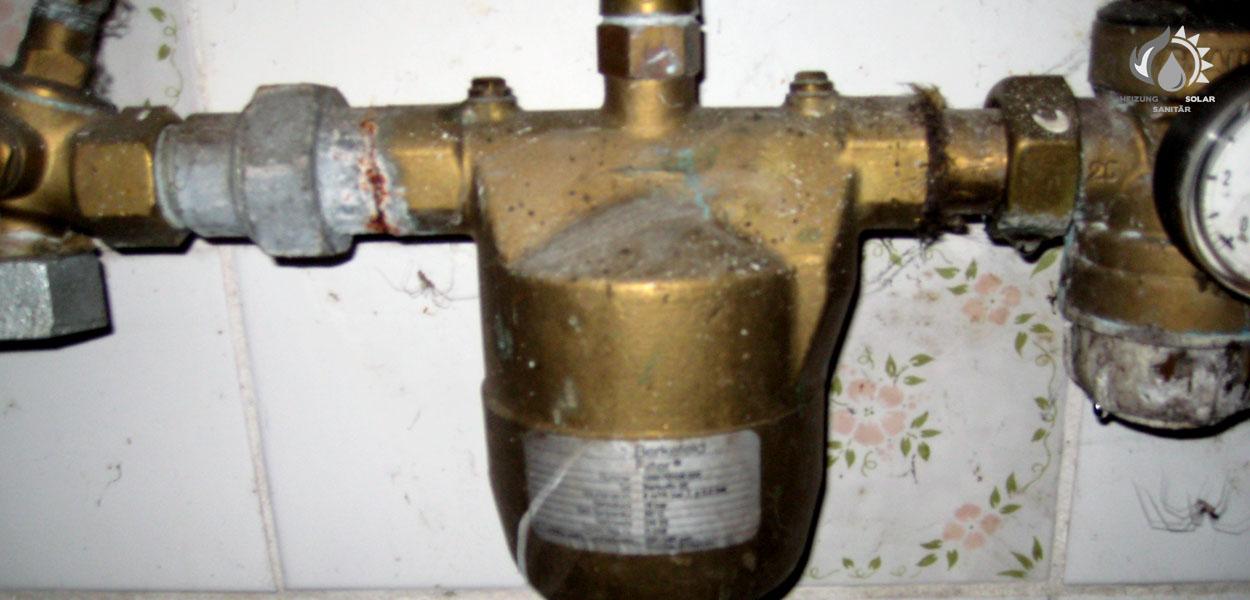 Zischka Heizung Sanitär Solar - alter Wasserfilter